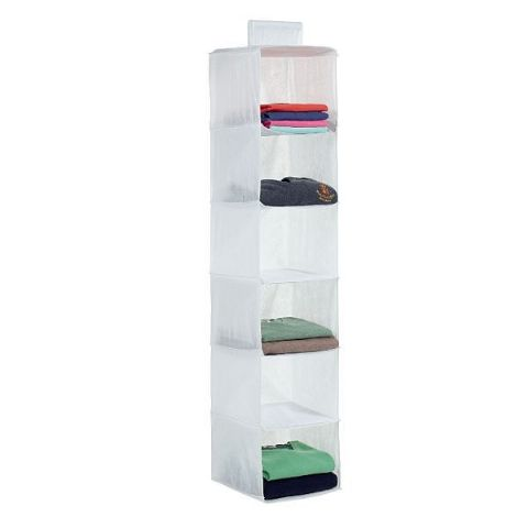 Frosted Hanging Wardobe Clothes Storage Shelves Organiser
